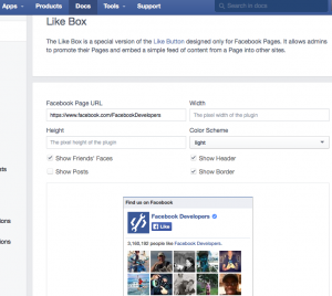 How to add a Facebook like box on wordpress